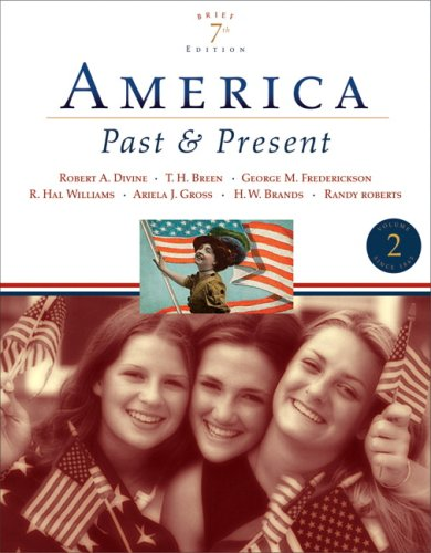 America Past and Present since 1865 7th 2007 (Revised) edition cover