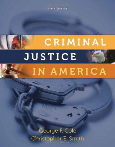 Criminal Justice in America  6th 2011 edition cover
