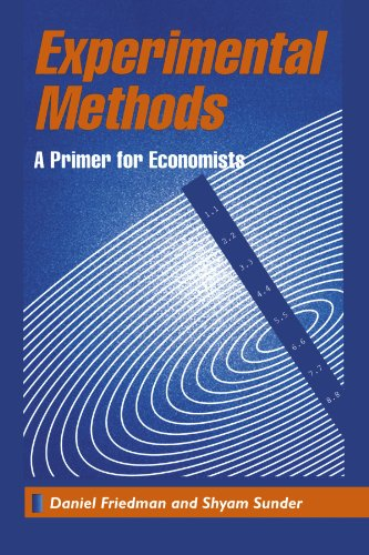 Experimental Methods A Primer for Economists  1994 edition cover