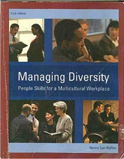 MANAGING DIVERSITY >CUSTOM< 6th 2003 9780536744821 Front Cover