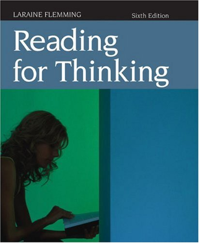 Reading for Thinking  6th 2009 edition cover