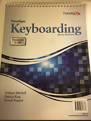 PARADIGM KEYBOARDING:SESS.1-30-TEXT     N/A 9780763847821 Front Cover