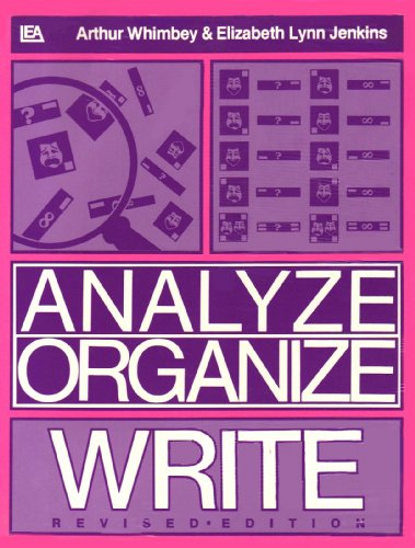 Analyze, Organize, Write  2nd 1987 (Revised) edition cover