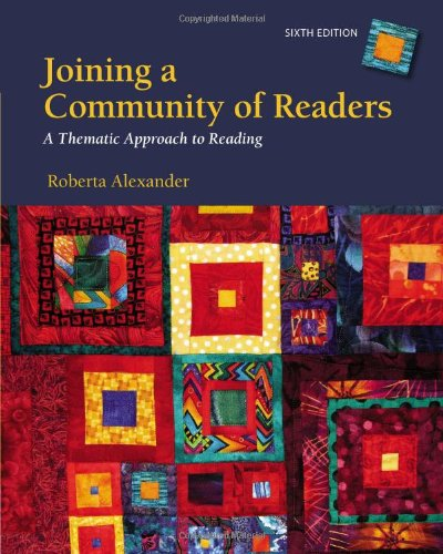 Joining a Community of Readers:   2013 edition cover