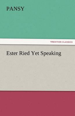 Ester Ried yet Speaking  N/A 9783842466821 Front Cover