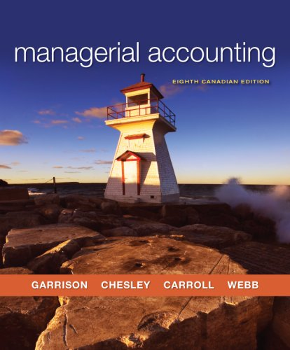 MANAGERIAL ACCT. >CANADIAN< N/A edition cover