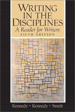 Writing in the Disciplines A Reader for Writers 5th 2004 (Revised) edition cover