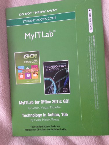 Go! Series and Technology in Action with Microsoft Office 2013   2014 9780133481822 Front Cover