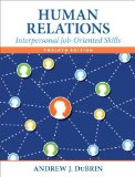 Human Relations Interpersonal Job-Oriented Skills 12th 2015 edition cover