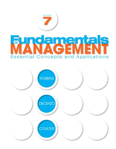 Fundamentals of Management  7th 2011 edition cover
