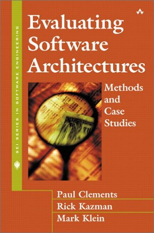 Evaluating Software Architectures Methods and Case Studies  2002 edition cover