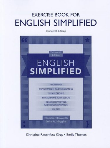Exercise Book for English Simplified  13th 2013 (Revised) edition cover