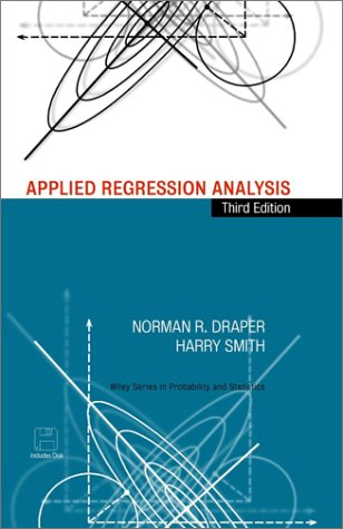 Applied Regression Analysis  3rd 1998 (Revised) edition cover