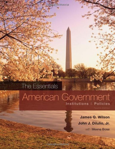 American Government Institutions and Policies 12th 2011 edition cover