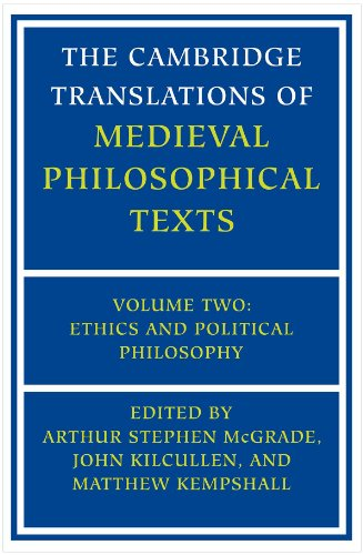 Cambridge Translations of Medieval Philosophical Texts Ethics and Political Philosophy  2001 edition cover