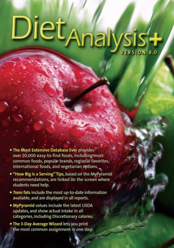 Diet Analysis Plus 7. 1 Windows Cd-Rom  8th 2007 (Revised) edition cover