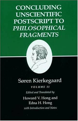 Concluding Unscientific Postscripts to Philosophical Fragments   1992 edition cover