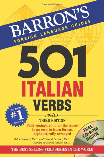 501 Italian Verbs With CD-ROM 2nd 2007 edition cover