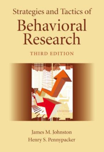 Strategies and Tactics of Behavioral Research  3rd 2009 (Revised) edition cover