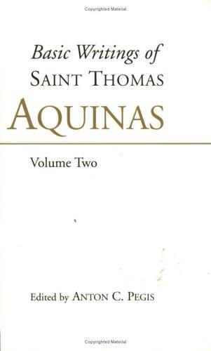 Basic Writings of St Thomas Aquinas   1997 (Reprint) edition cover