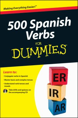 500 Spanish Verbs for Dummies   2012 edition cover