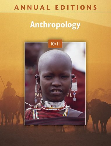 Annual Editions: Anthropology 10/11  33rd 2010 edition cover