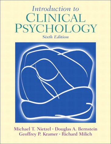 Introduction to Clinical Psychology  6th 2003 9780130980823 Front Cover