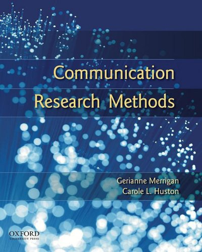 Communication Research Methods  2nd 2009 edition cover