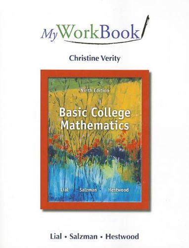 Myworkbook for Basic College Mathematics  9th 2014 edition cover
