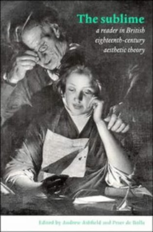 Sublime A Reader in British Eighteenth-Century Aesthetic Theory  1996 edition cover