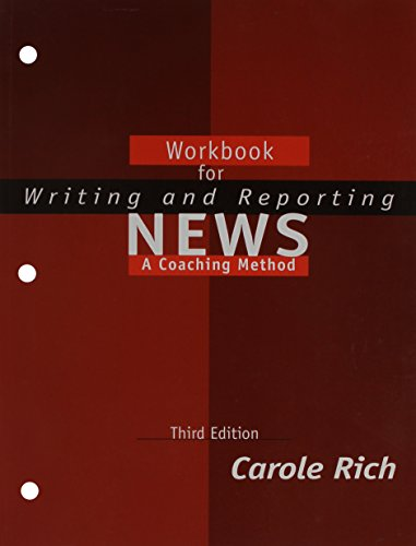 Writing and Reporting News A Coaching Method 3rd 2000 (Student Manual, Study Guide, etc.) 9780534559823 Front Cover