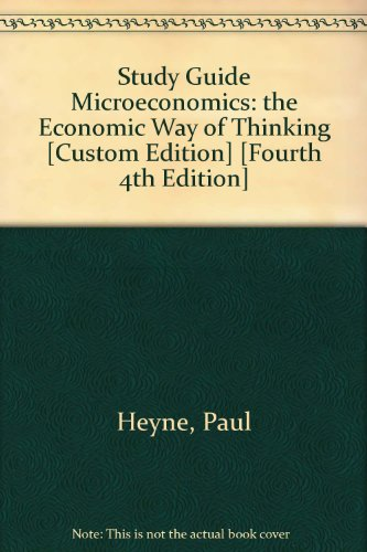 Microeconomics Student Manual, Study Guide, etc.  9780536597823 Front Cover