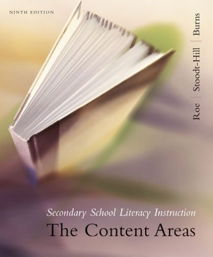 Secondary School Literacy Instruction The Content Areas 9th 2007 9780618642823 Front Cover