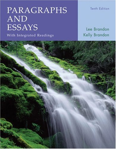 Paragraphs and Essays With Integrated Readings 10th 2008 9780618767823 Front Cover