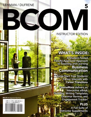 BCOM5:   >INSTRS.ED<           N/A 9781285094823 Front Cover