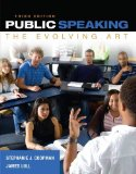 Public Speaking The Evolving Art 3rd 2015 9781285432823 Front Cover