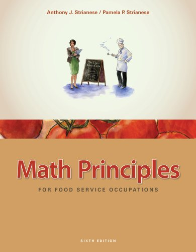 Math Principles for Food Service Occupations  6th 2012 edition cover