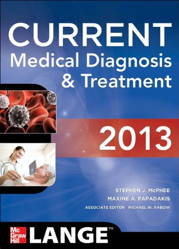 Current Medical Diagnosis and Treatment 2013  52nd 2013 edition cover