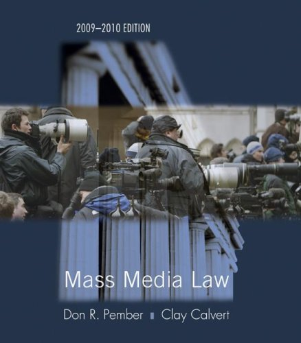 Mass Media Law  16th 2009 edition cover