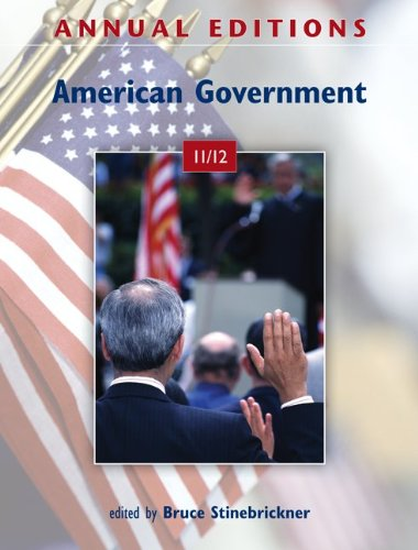 Annual Editions: American Government 11/12  41st 2012 9780078050824 Front Cover