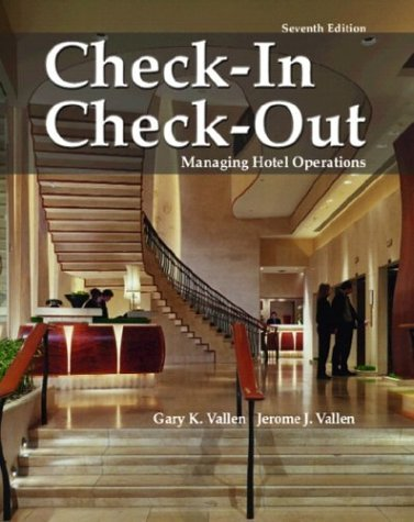 Check-In, Check-Out Managing Hotel Operations 7th 2005 edition cover