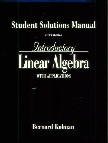 Introdution to Linear Algebra  6th 1997 (Student Manual, Study Guide, etc.) 9780132819824 Front Cover