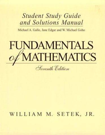 Fundamental Math  7th 1996 (Student Manual, Study Guide, etc.) 9780133825824 Front Cover