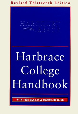 Harbrace College Handbook 13th 1998 (Revised) edition cover