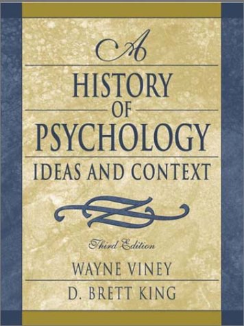 History of Psychology Ideas and Context 3rd 2003 (Revised) edition cover