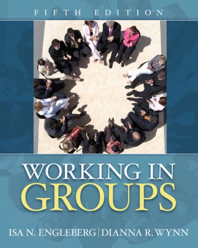 Working in Groups  5th 2010 edition cover