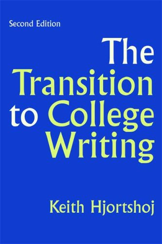 Transition to College Writing  2nd 2009 edition cover