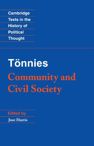 T�nnies Community and Civil Society  2001 9780521567824 Front Cover