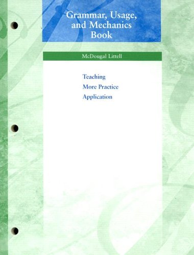 Grammar, Usage, and Mechanics Book Grade 8 Teaching More Practice Application N/A 9780618153824 Front Cover