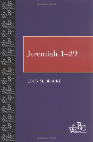 Jeremiah 1-29   2000 edition cover